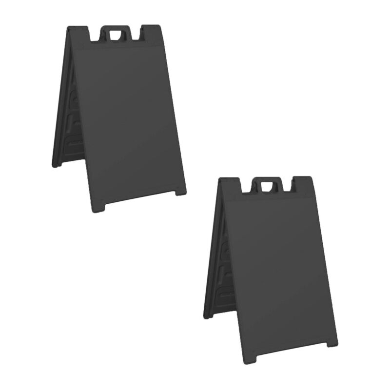 Plasticade Signicade Portable Folding Plastic A Frame Store Sign Stand (2 Pack)