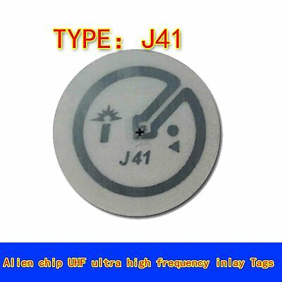 50pcs Rfid Uhf Passive Smart Label Tag Sticker Antenna J41