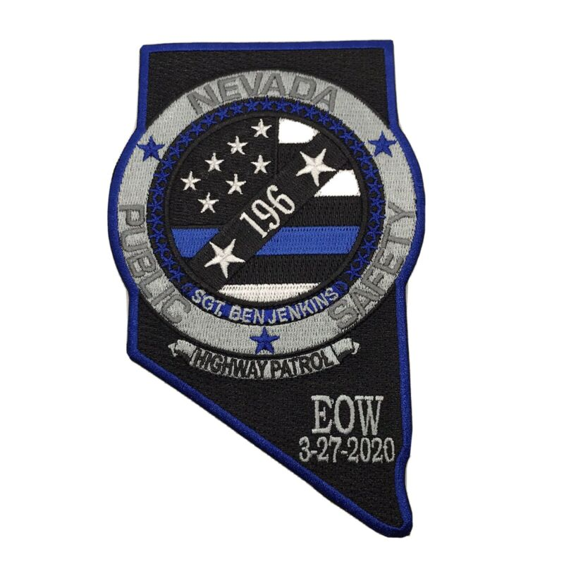 Nevada Public Safety Highway Patrol State Police EOW Sgt. Ben Jenkins Patch TBL