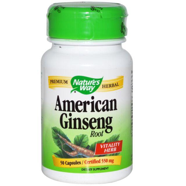 Nature's Way, American Ginseng Root, 550 mg, 50 Capsules
