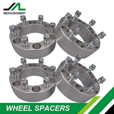 "(4) 2"" Wheel Spacers Adapters 6x5.5 fits Chevy Silverado 1500 Tahoe Suburban GMC"