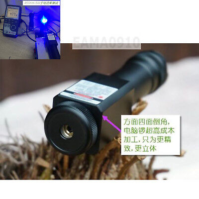 Focusable Waterproof 450nm Blue Laser Pointer Led Torch Powerful 450t-5000