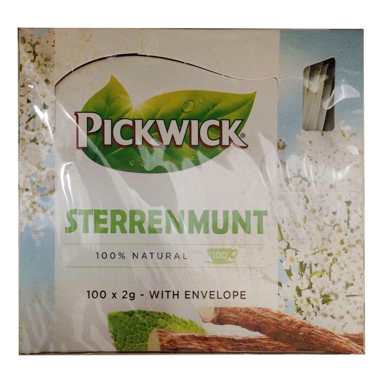 Pickwick Sterrenmunt Teemischung (100x2g Teebeutel) Tee Minze, Süßholz und Anis