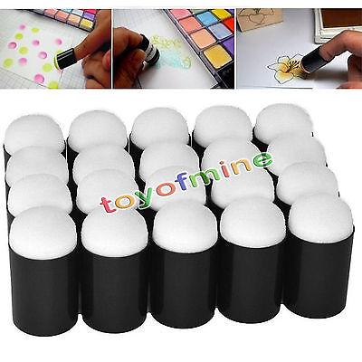 1~10pcs Finger Sponge Case Daubers Painting Ink Stamping Chalk Reborn Art Tools