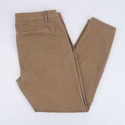 GAP Khakis Skinny Mini Womens 10 Regular Khaki Brown Stretch Pants 28