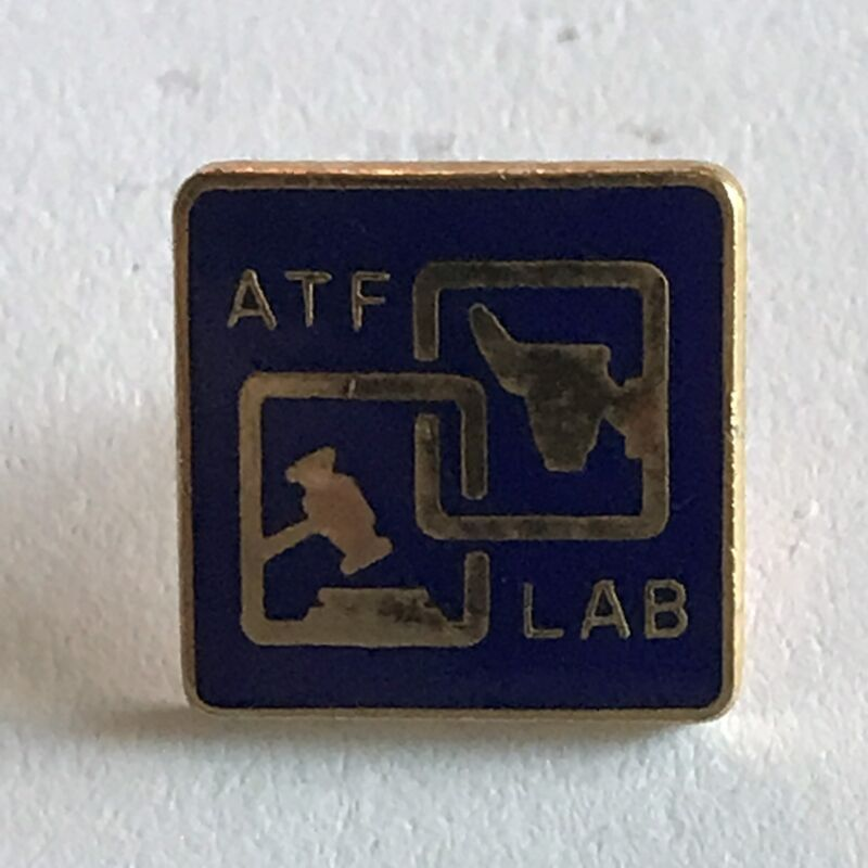 ATF (Alcohol Tobacco and Firearms) Lab Pin - Police, Federal