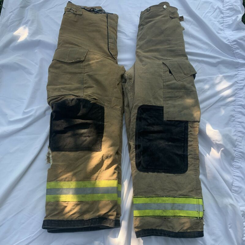 Lot Of 2 firefighter turnout bunker pants Authentic