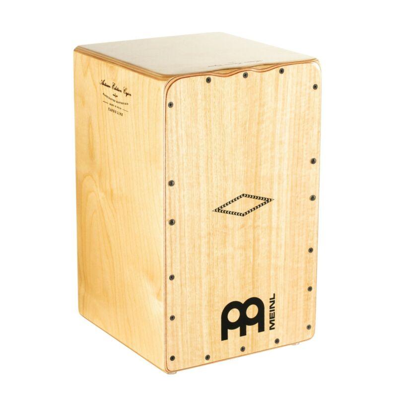 Meinl AETLLE Artisan Edition Cajon Drum, Tango Line, Light Eucalyptus Frontplate