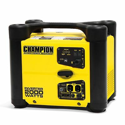 Champion 2000 Watt Quiet Portable Camping Gasoline Power Inverter Generator