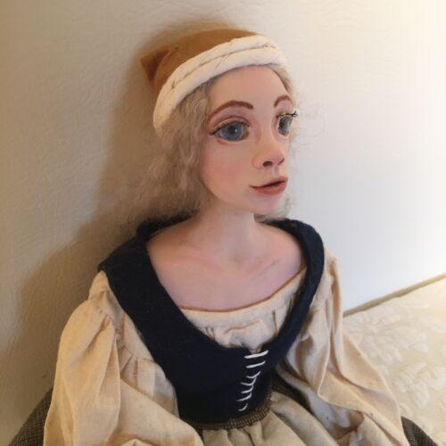 Artisan Doll Victorian Renaissance Doll Artist Made OOAK By Stacey Kelley - $75.00