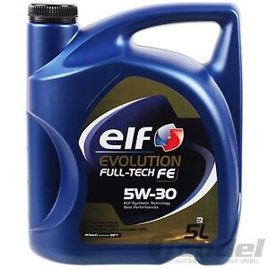 [€6,78/L] 5L ELF EVOLUTION 5W30 FULL TECH FE DPF MOTORÖL RENAULT RN0720