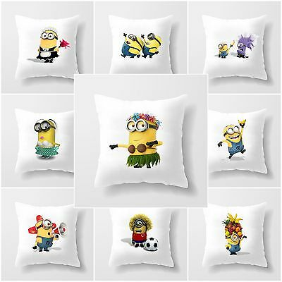 Minion Pillow Case Personalised Despicable Me Cushion Cover Custom Gift Any Name - Minions Character Names