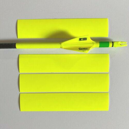 3 Arrows Archery - Arrow Wraps - FLO YELLOW . 12 + 2 (Multi Size) Made In USA