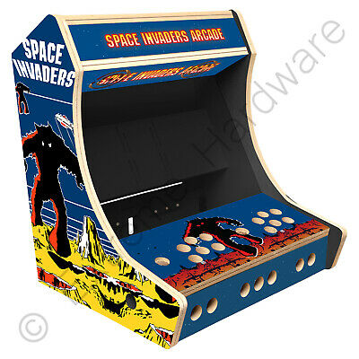 "BitCade 2 Player 19"" Bartop Arcade Cabinet Machine with Space Invaders Artwork"