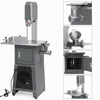 550w Electric Stand Up Butcher Meat Cutting Band Saw Grinder Sausage Stuffer