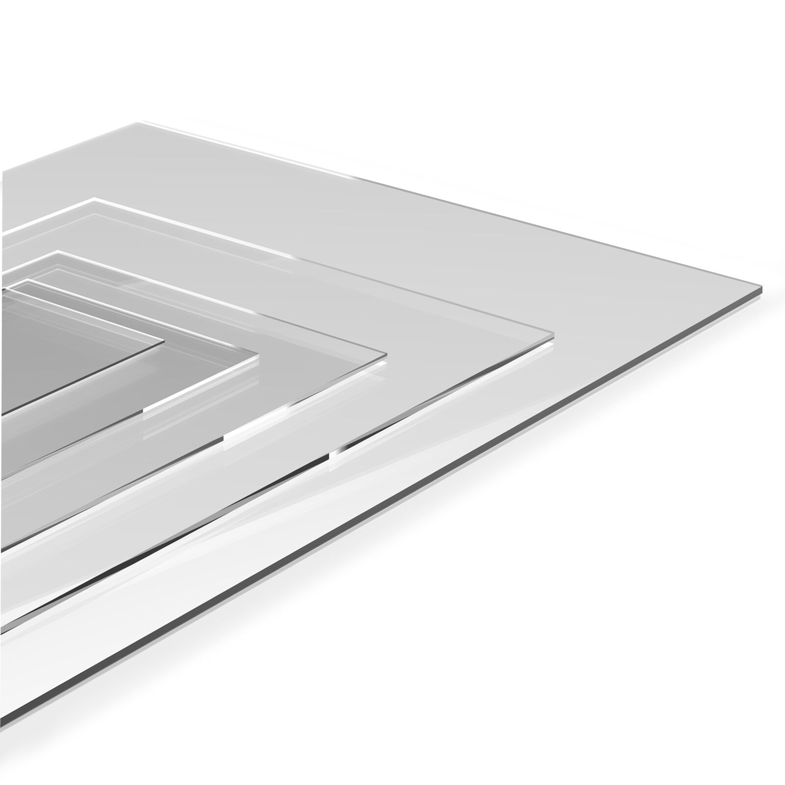 Clear Acrylic Perspex Plastic Sheet - Custom Sizes 2mm - 6mm Thick Material
