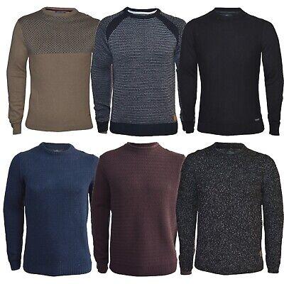 Mens Medium Knit Jumper Cotton Blend Pullover Sweater Crew Neck Casual Top