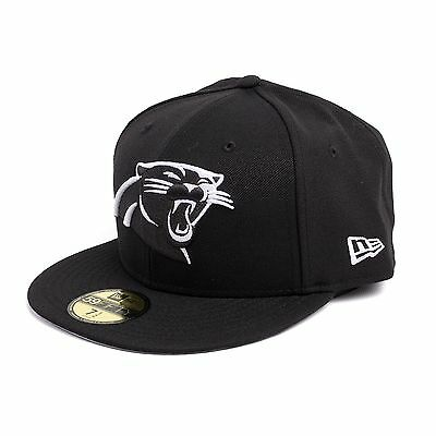 Panthers Fitted Cap Mütze Kappe, Farbe schwarz, 93095 (Carolina Panther Farben)