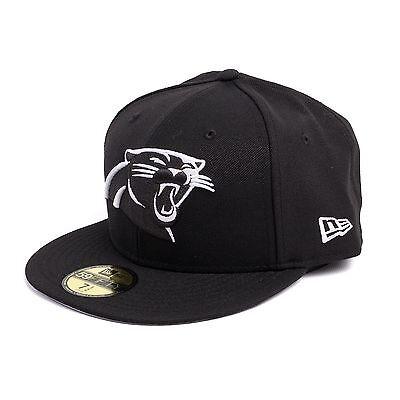 New Era NFL Carolina Panthers Fitted Cap Mütze Kappe, Farbe schwarz, 93095 ()