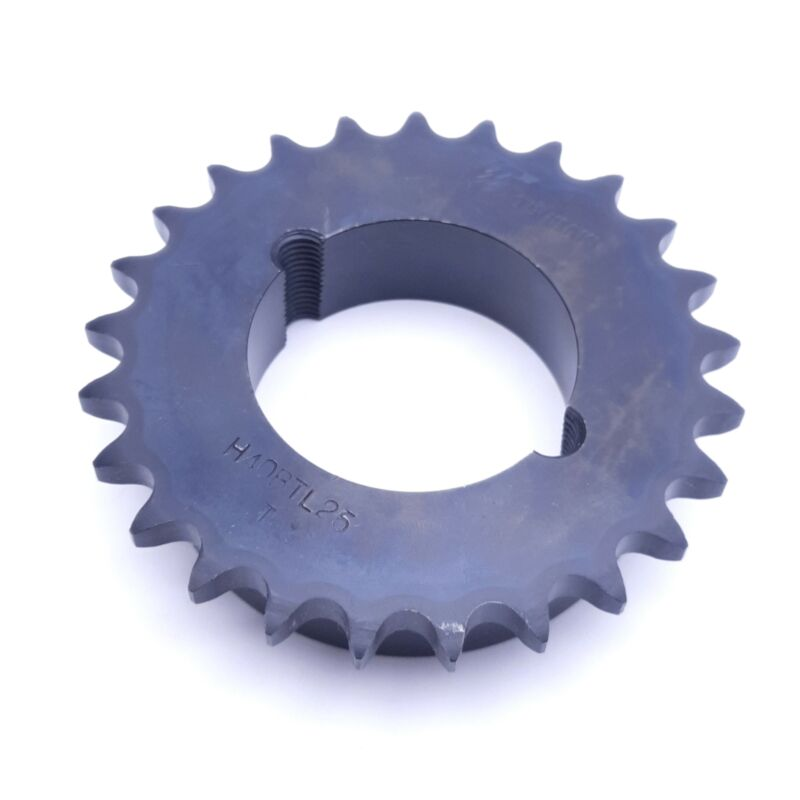 "TSUBAKI H40BTL25 Roller Chain Sprocket, Taper Lock, #20 ANSI No., 1/2"" Pitch"