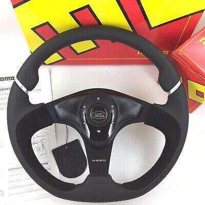 Genuine Momo Nero 350mm leather steering wheel and hub. For Land Rover 29 spline