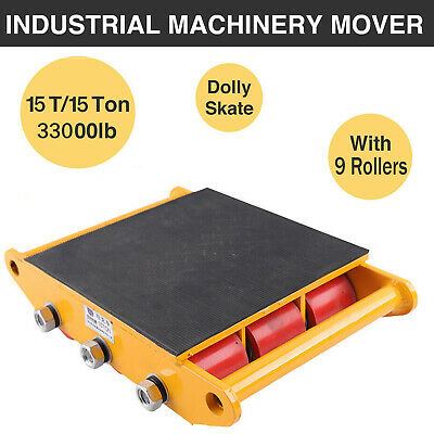15t Industrial Machinery Mover Dolly Skate Roller Heavy Duty 33000lbs