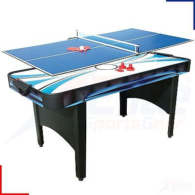 6ft Typhoon 2-in-1 Electric Air Hockey / Table Tennis Family Game