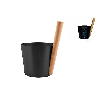 Rento 5l Anodised Aluminium Sauna Pail in Black