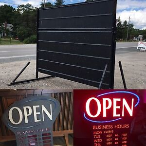 MOBILE SIGN FOR SALE & neon open sign