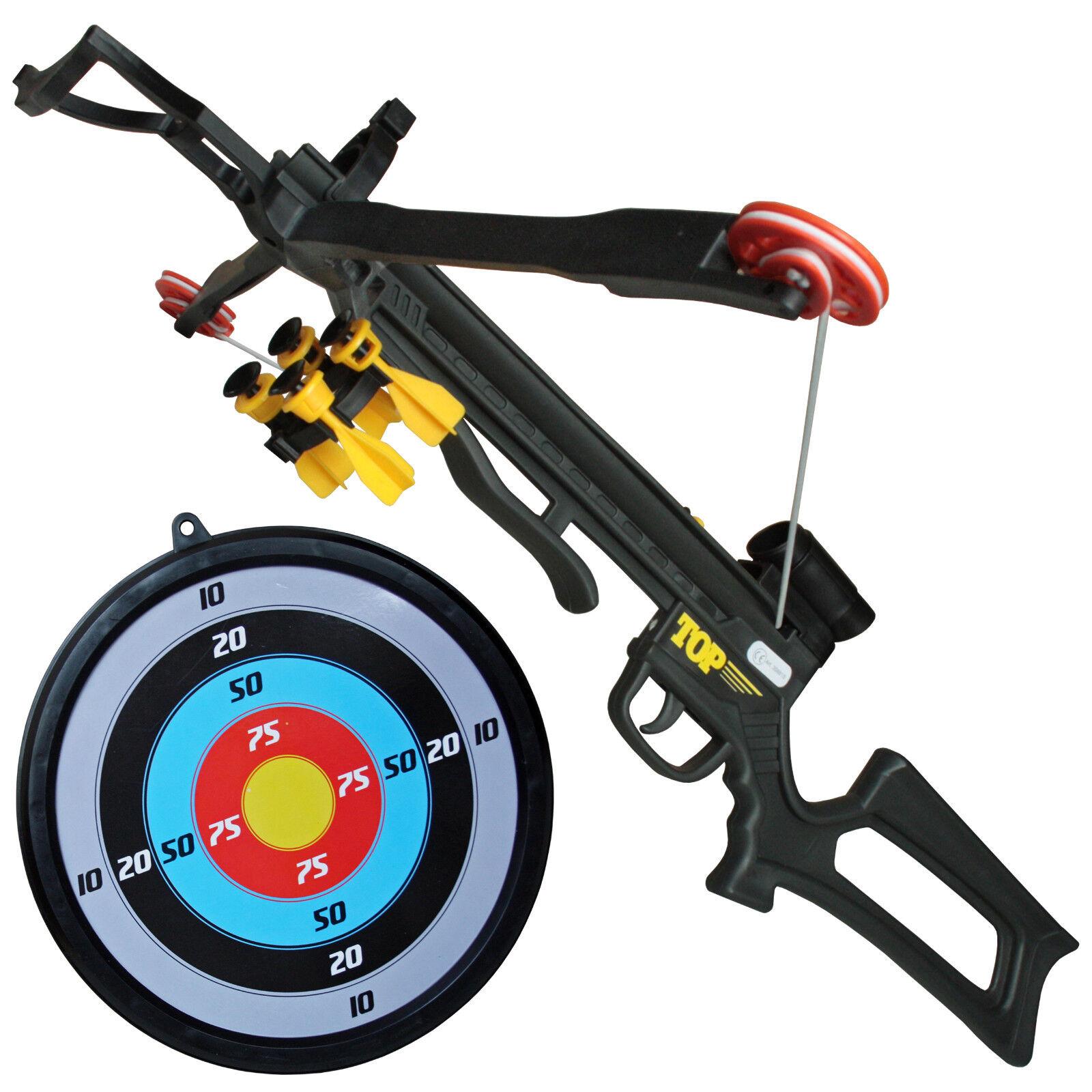 Crossbow Kinderarmbrust-Set inkl. Pfeilhalter 5 Saugnapfpfeilen und Zielscheibe