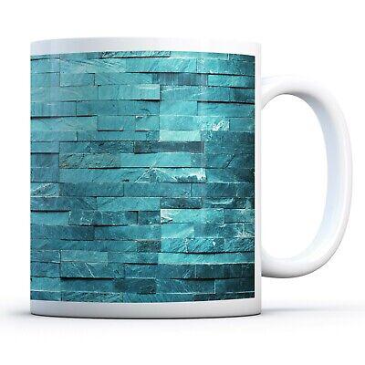 Teal Stone Wall - Drinks Mug Cup Kitchen Birthday Office Fun Gift #15835 ()