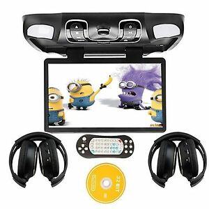 15 6 voiture lecteur dvd plafond montage clapet bas plafonnier usb sd game ebay. Black Bedroom Furniture Sets. Home Design Ideas