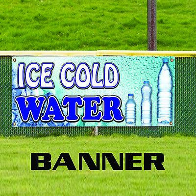 Ice Cold Water Bottle Food Cart Truck Trailer Advertising Vinyl Banner Sign