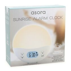 TikTok Gradual Light Increase LED Simulated Sunrise Alarm Clock with Time & Date