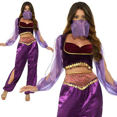 Arabian Princess Costume Genie Belly Dancer Womens Ladies Fancy Dress Outfit - Arabian Outfits Ladies