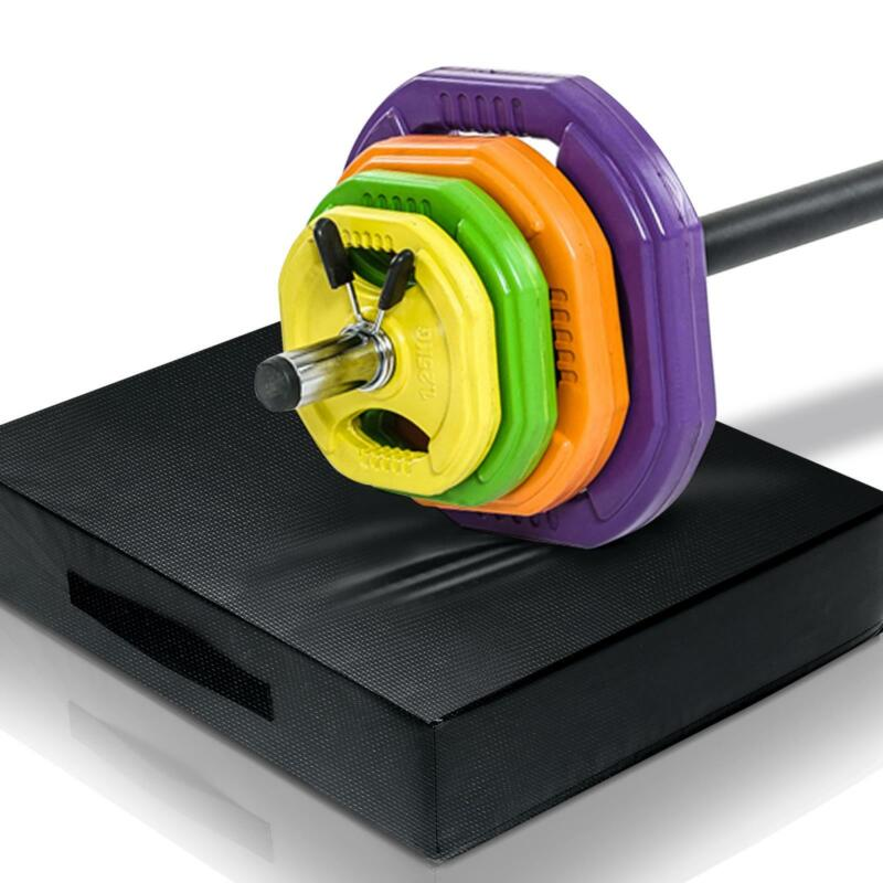 Barbell Drop Pads Gym Silencer Drop Pads Pair Crash Cushion Pads Home