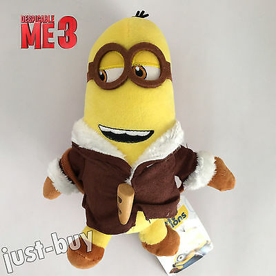 Despicable Me 3 Plush Minion Kevin Soft Toy Stuffed Animal Doll in Brown 7.5
