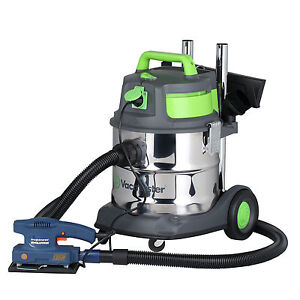 Vacmaster  Quiet 20 PTO Heavy Duty Wet and Dry Vacuum Cleaner, Stainless Steel