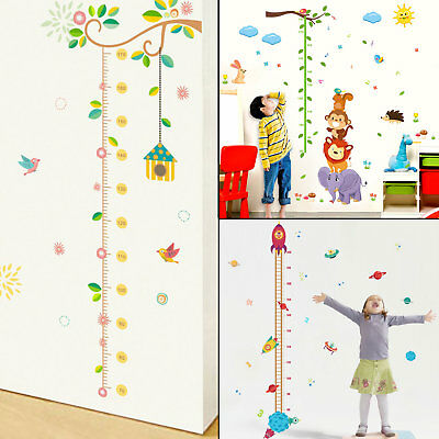 (Kids Growth Chart Height Measure Wall Stickers Children Nursery Baby Room Decor)