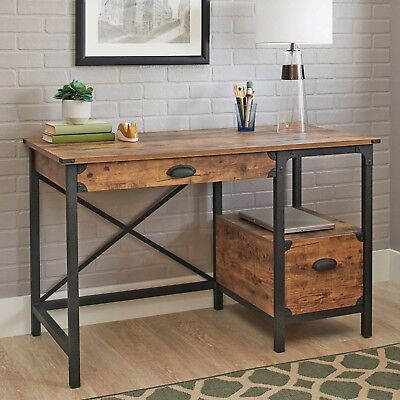 Country Style Computer (Rustic Country Style Desk Computer Furniture Industrial Weathered Pine)