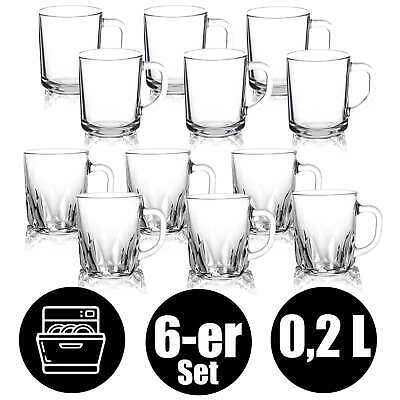 Trinkglas Wasserglas Teeglas Set Tassen Tasse mit Henkel Cay Gläser Kaffee #3015