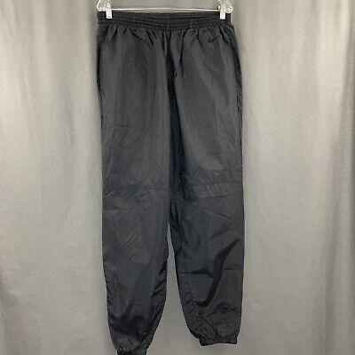 Nike Vintage 80's 90's Thin Windbreaker Track Pants Black Nylon Men's Size Large