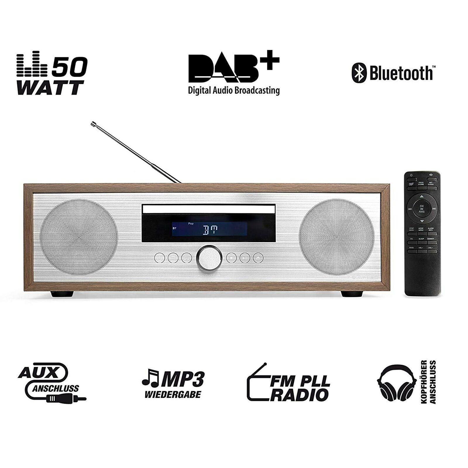 AudioAffairs MCD 010 Micro Stereoanlage CD Mikroanlage Digitalradio Player DAB+