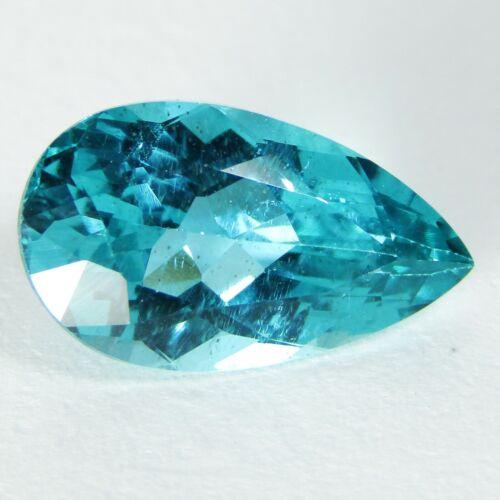 2.46Ct Natural Amazing Paraiba Blue Color Apatite Pear Shape Collection Ref VDO