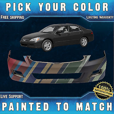NEW Painted To Match- Front Bumper Cover For 2006 2007 Honda Accord Sedan 4 door