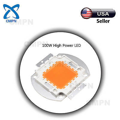 1pcs 100w High Power Led Chip Smd Full Spectrum 380-840nm Plant Grow Light Beads