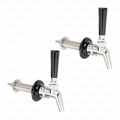 X2 Perlick 630ss Perl Beer Faucet Shank Sets All Stainless Kegerator Tap Sets