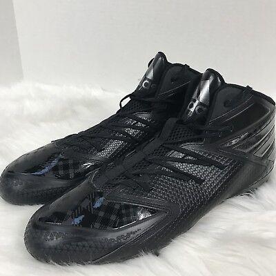 quality design 79b40 f3b1d ADIDAS Freak X Carbon Mid Q16058 Triple Black Football Cleats Shoes Mens  Size 16