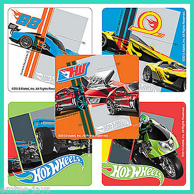 Hot Wheels Speed Stickers x 5 - Birthday Favours Party Bag Ideas Hot Cars Racing (Car Birthday Ideas)