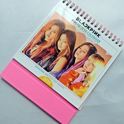 BlackPink 2018 Photo Desk Calendar Black Pink Planner Kpop Album Rose Lisa Jisoo